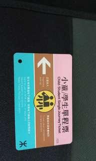香港地鐵早期車票