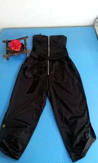 tomato black tube jumpsuit