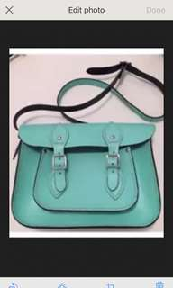 Blue Leather bag by The Leather Satchel Co. - RRP$227