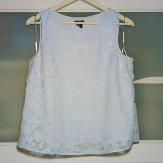 F&F Light Blue Floral Sleeveless Blouse