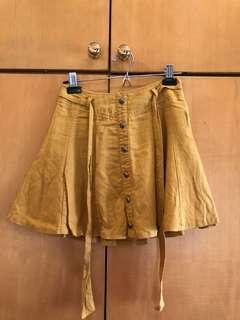 Forever 21 mustard skirt