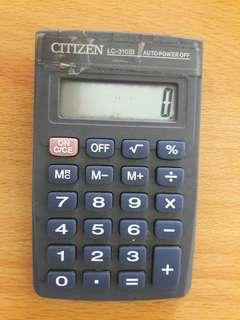 Preloved Kalkulator Abu Mini Include batere