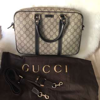 Auth Gucci laptop bag