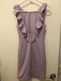 Zara Lavender Backless Mini Dress
