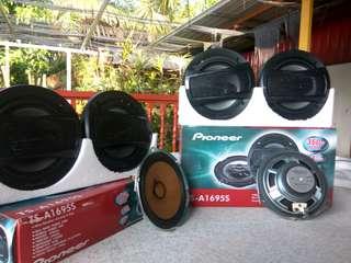 "2 Set Speaker Pioneer A-TS1965S 6"" + Speaker Ori Proton 6"""