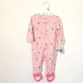 NEW Carters pink sleepsuit sz 6m