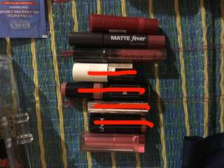 All lipstick for RM5 each