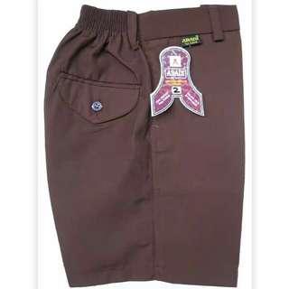 Seragam sekolah, celana 3/4, celana panjang karet drill, celana panjang bon drill. Rok Plesir panjang.