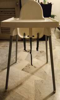 Ikea Baby Chair with Tray Table