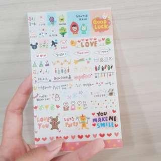 korea stickers deco