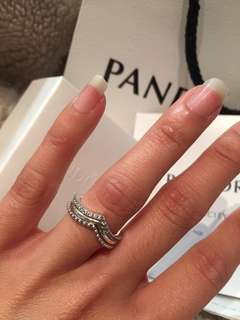 Authentic Pandora Wishbone Rings