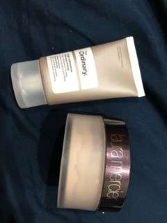 laura mercier loose setting powder + the ordinary high-adherence silicone primer