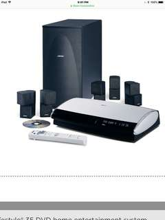Bose lifestyle 35 DVD home enterainment system