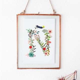 🚚 A to Z Monogramme Wall Print
