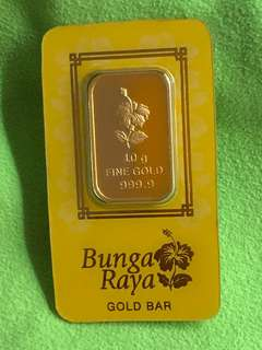 Pure Gold Bar (10grams) - Gold 999 Series ❤️