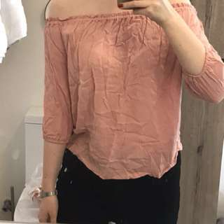 Glassons off the shoulder top size 8
