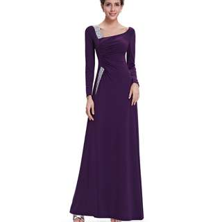 Instock Size S-M Purple Premium Gown! Sale! Clearance sale dress! Clearing stock! Evening Gown, Prom Dress, DND Dress, ROM Dress – NIC038 V1