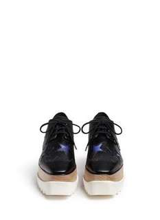 excellent condition Authentic Stella Mccartney Elyse star wedge platform brogues - 35