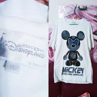 香港迪士尼樂園  Disneyland 米奇Tee原價250環保價50男女適合