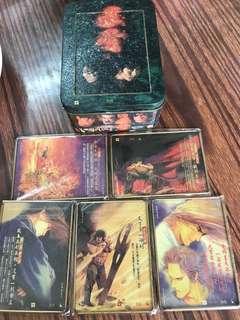 風雲電影紀念金屬卡一套五張