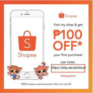 Products also available in Shopee! With P100 off + free shipping!