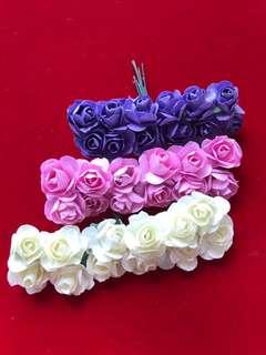Paper roses scrapbook flowers