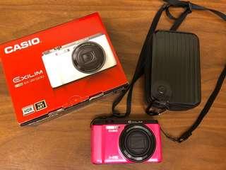 🚚 CASIO EX-ZR1200卡西歐反轉自拍相機  有wifi卡可直接上傳手機(桃紅色)全配