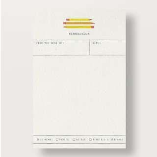 🚚 Pencils and Memo Set of 5 Kids Notecards