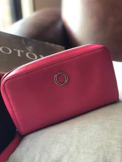 Oroton clutch bag - pink