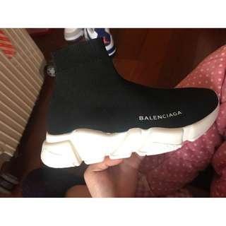Balenciaga巴黎世家 權誌龍同款 街頭爆款高端簡約黑白襪子運動