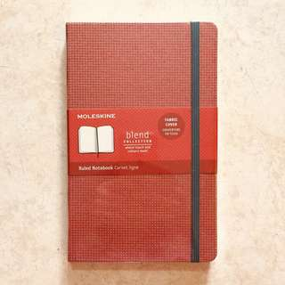 Moleskine ruled notebook - special fabric cover