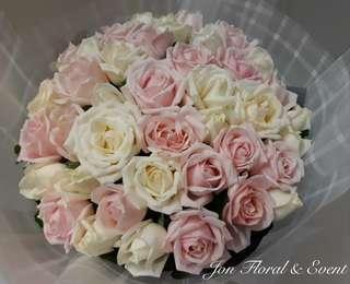 "38""stk FRESH roses bouquet"