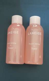 New 2x50ml Laneige Fresh Calming Toner