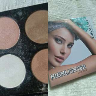 4in1 Highlight,Blush,Bronzer and Contour Palette