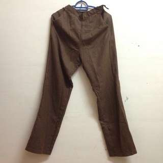 Loose Pants brown M size