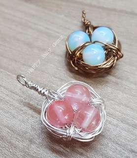 Bird nest pendant