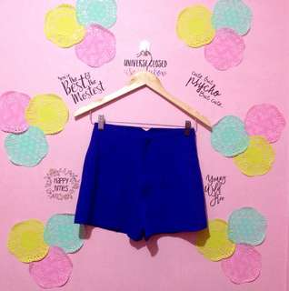 Royal Blue Highwaist Shorts
