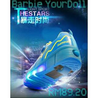 Fashionable Boys Girls Adults Roller Shoes LED Light Shoes Roller-Skate Sneakers