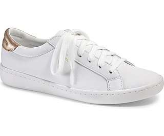 KEDS White and Gold Ace Leather