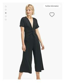 Culotte jumpsuit with a knot