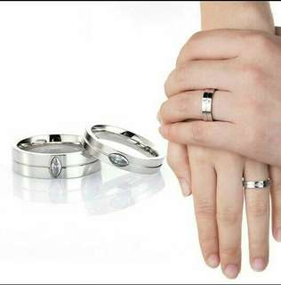 CINCIN COUPLE TITANIUM ASLI