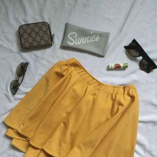 Mustard Yellow Skater Skirt