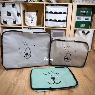 🚚 萌熊 居家棉被 換季 收納袋 整理袋 居家佈置 衣物收納袋