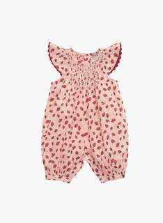 Stella McCartney Kids Sun Baby Girl Apple Print Romper Overalls