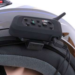 (366)1 Pcs 3.5mm BT Bluetooth Motorcycle Helmet Interphone Headset 6 Riders 1200M