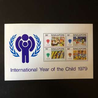 Miniature Sheet Stamp - Singapore 1979 - International Year of the Child 1979 (MUH)