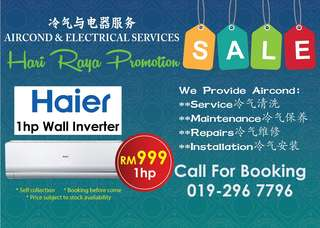 Promotion brand new aircond HAIER