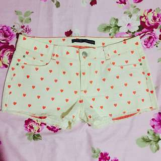 Zara Heart Print Shorts