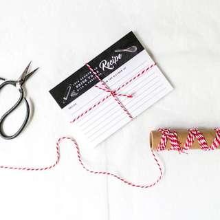 🚚 CHALK BRIDAL RECIPE CARDS