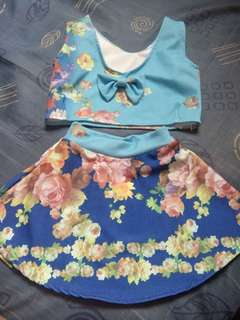 Preloved Trendy Summer Top and Skirt